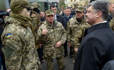 Порошенко взяв участь у відкритті виставки озброєння та військової техніки в Києві
