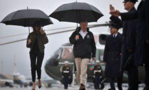 Трамп з дружиной прибули до постраждалого від урагану Техасу