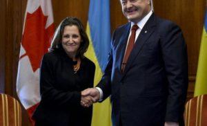 Порошенко почав переговори із головою МЗС Канади Христею Фріланд