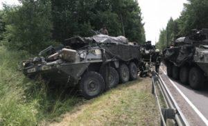 У Литві зіткнулись 4 бронетранспортери США, постраждали 13 військових