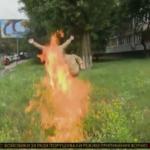 У Києві колишній військовий підпалив себе біля Міноборони