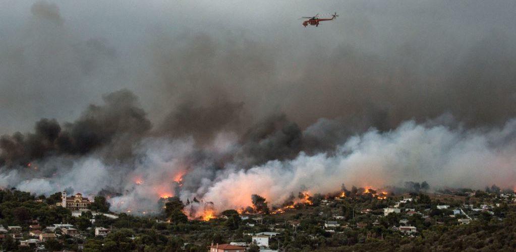Пожежі у Греції продовжуються – нові дані