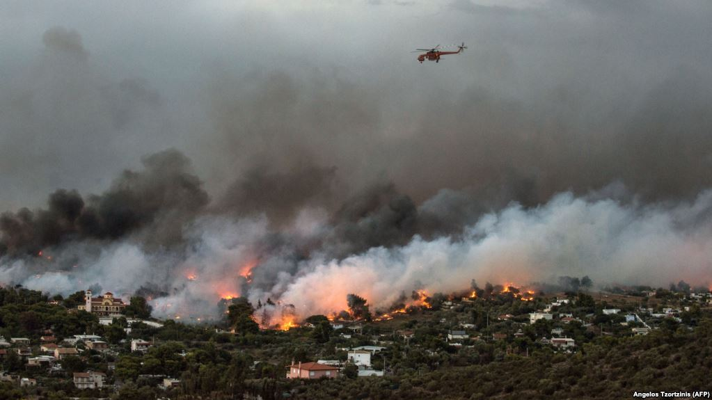 Пожежі у Греції продовжуються - нові дані