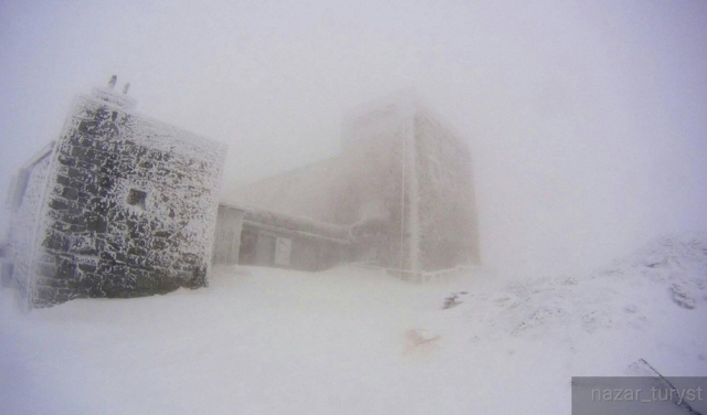 Карпати засипає снігом. На горі Піп Іван температура впала до -8°С (ФОТОФАКТ)