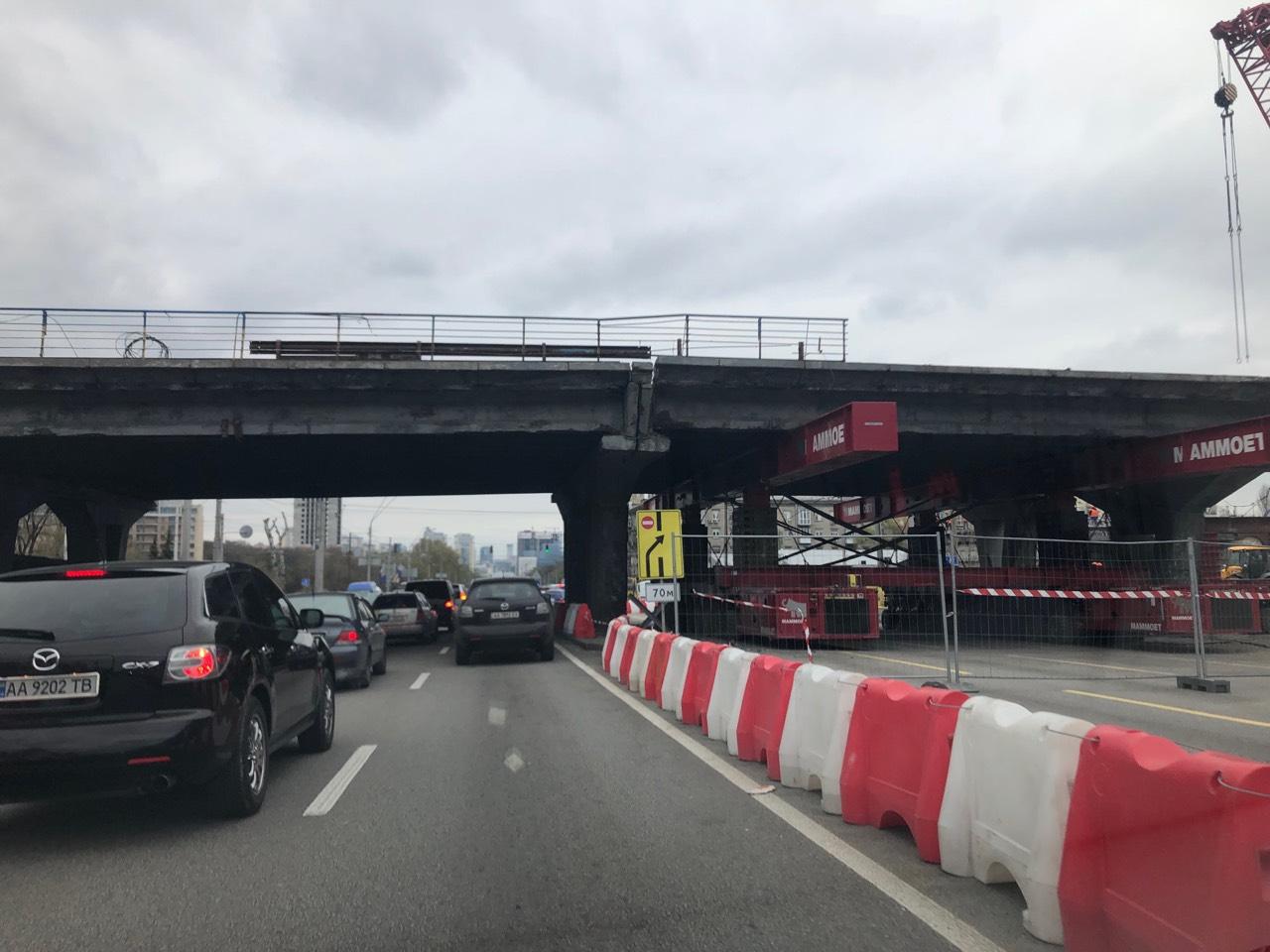 Кадри реконструкції Шулявського мосту