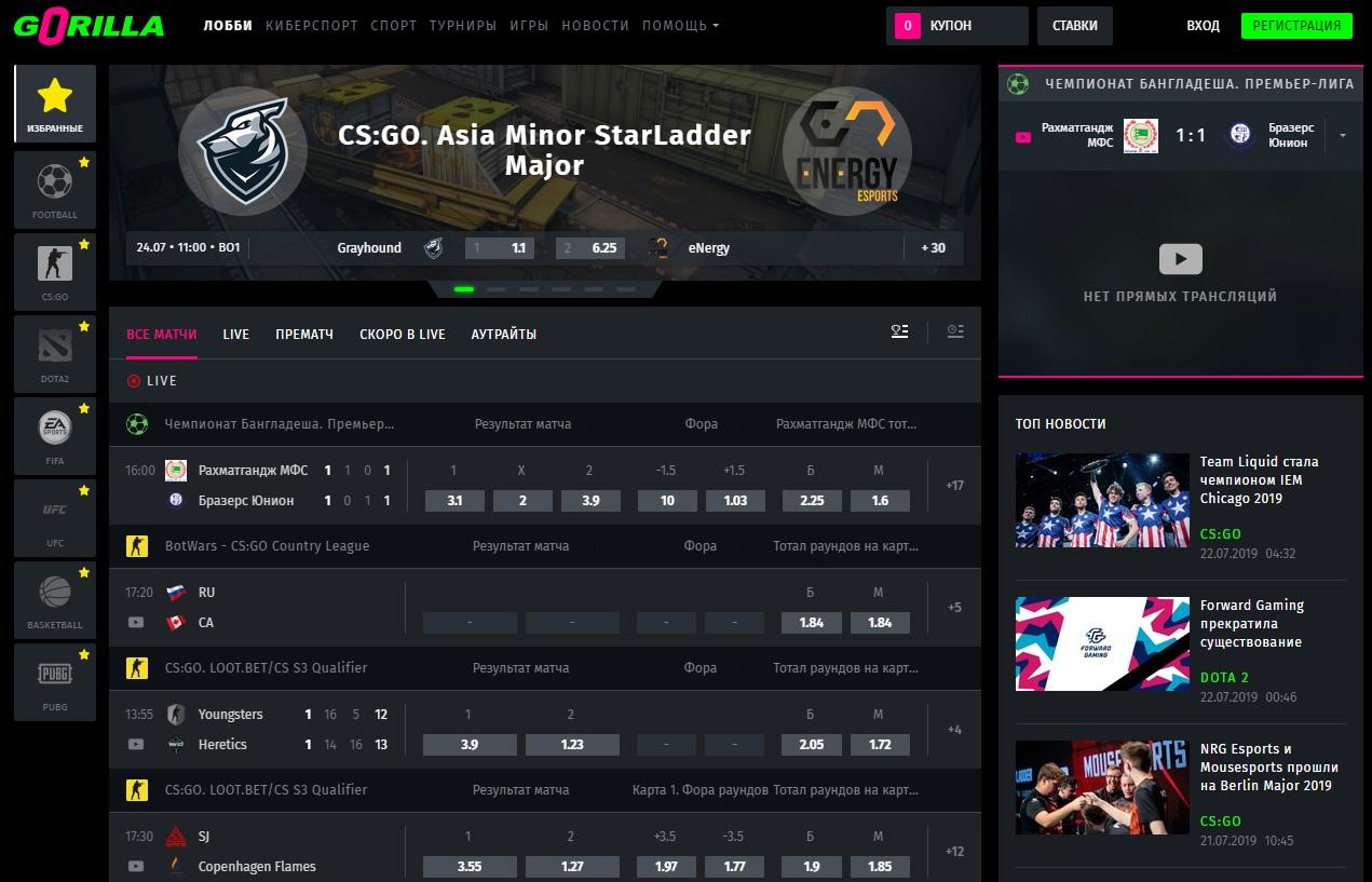 Сайт с крутыми коэффициентами на любые спортивные события и киберспорт