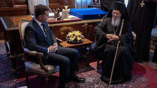 Зеленський поспілкувався із Вселенським Патріархом, який підтвердив підтримку цілісності та суверенітету України