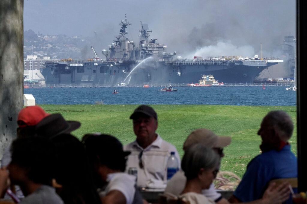 Пожежа на кораблі США тривала чотири доби